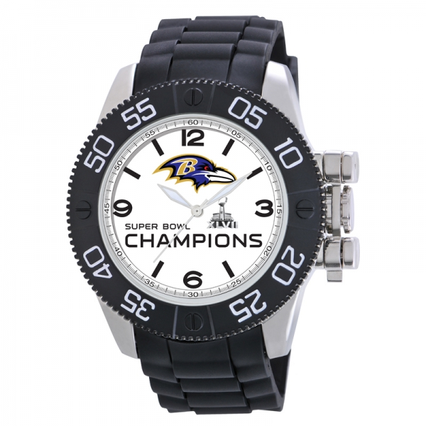Baltimore Ravens Super Bowl Mens Heavy Duty Watch - Beast