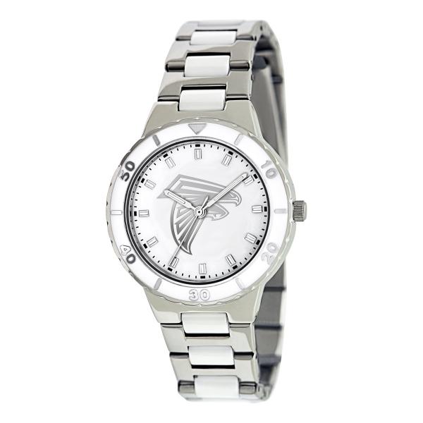 Atlanta Falcons Silver Ladies Watch - Pearl