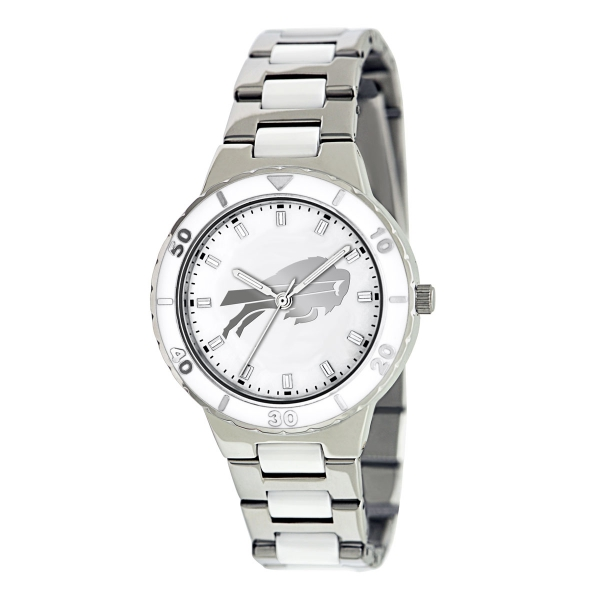 Buffalo Bills Silver Ladies Watch - Pearl
