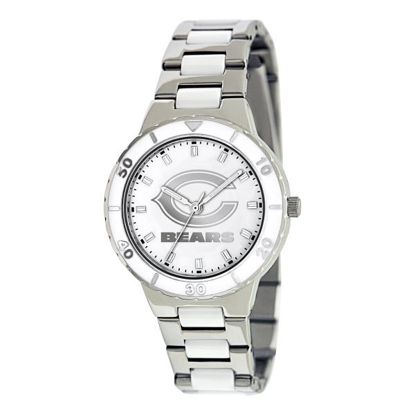 Chicago Bears Silver Ladies Watch - Pearl