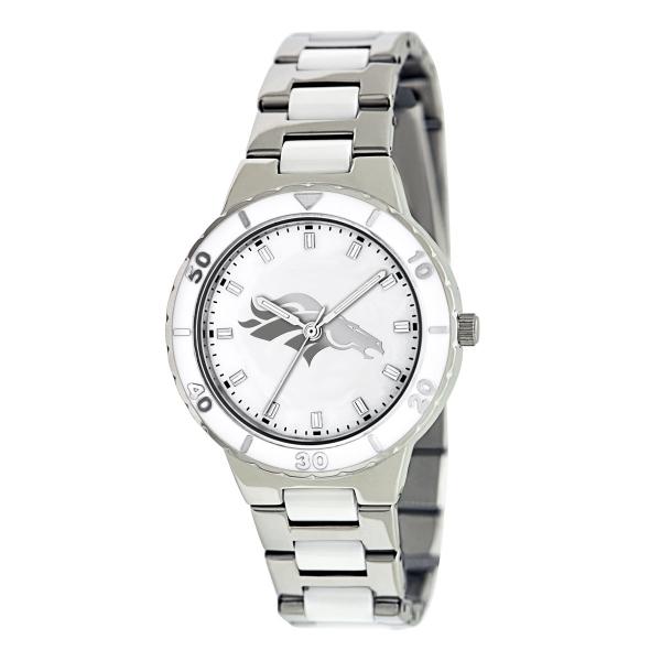 Denver Broncos Silver Ladies Watch - Pearl