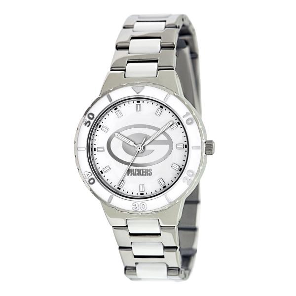 Green Bay Packers Silver Ladies Watch - Pearl