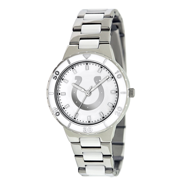 Indianapolis Colts Silver Ladies Watch - Pearl