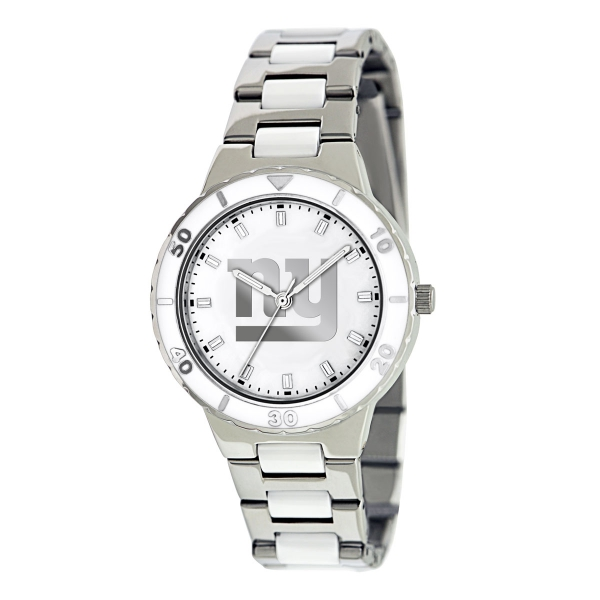 New York Giants Silver Ladies Watch - Pearl