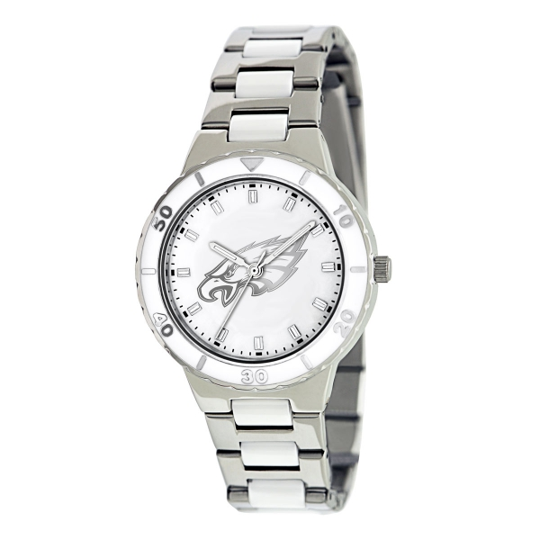 Philadelphia Eagles Silver Ladies Watch - Pearl