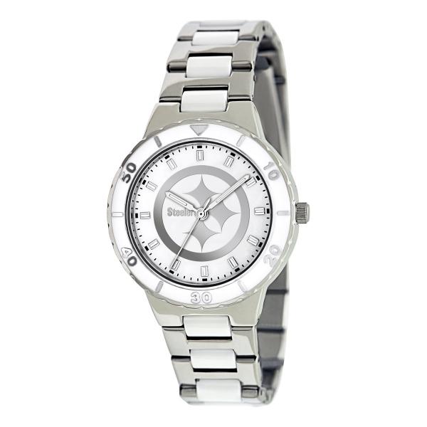 Pittsburgh Steelers Silver Ladies Watch - Pearl