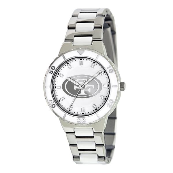 San Francisco 49ers Silver Ladies Watch - Pearl