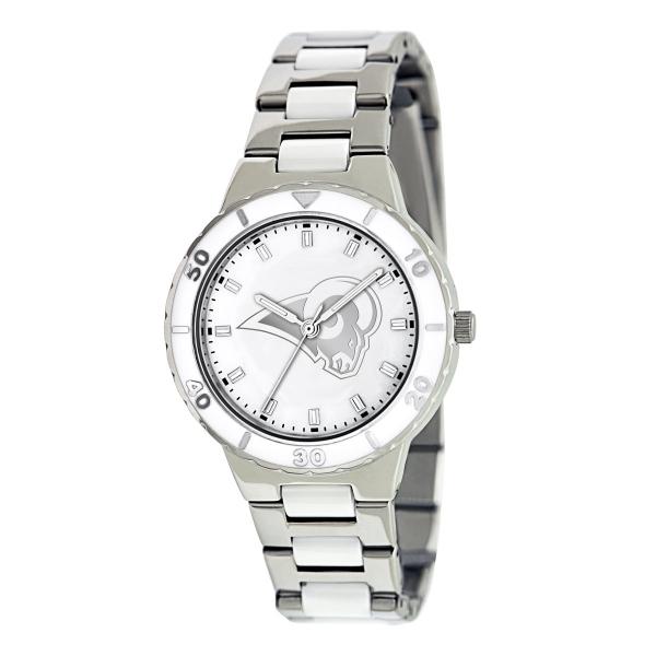 St Louis Rams Silver Ladies Watch - Pearl