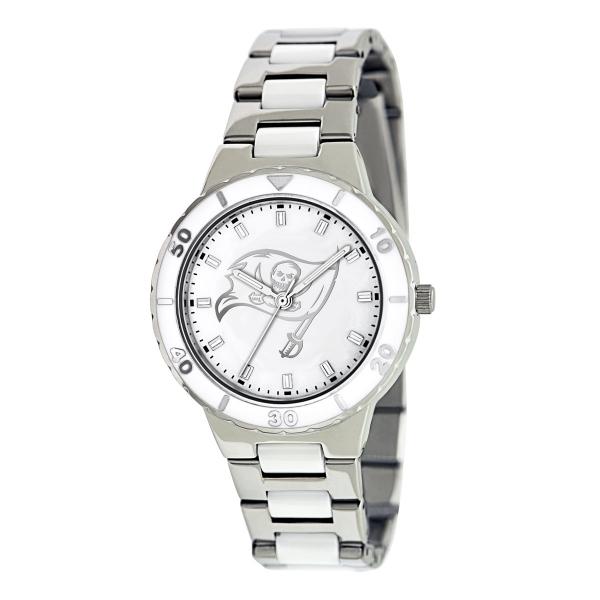 Tampa Bay Buccaneers Silver Ladies Watch - Pearl