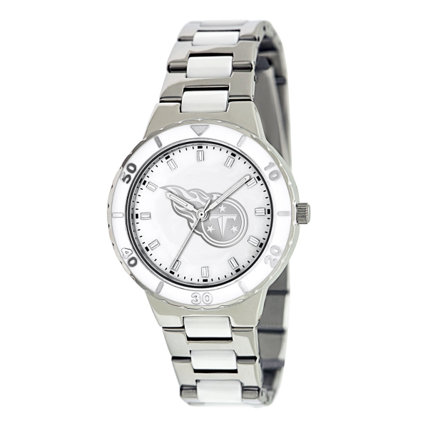 Tennessee Titans Silver Ladies Watch - Pearl