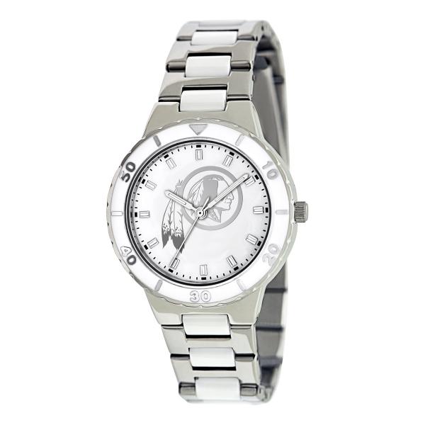 Washington Redskins Silver Ladies Watch - Pearl