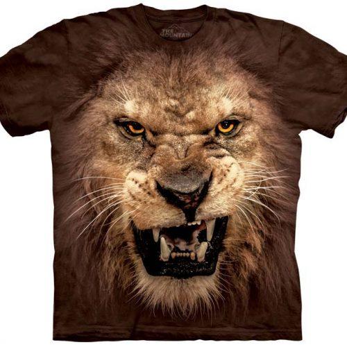 Big Face Roaring Lion Shirt