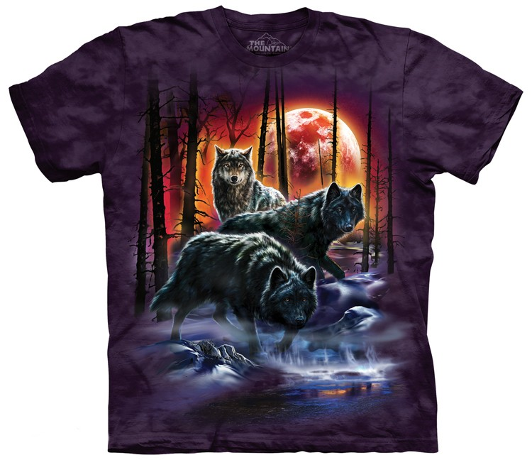 fire and ice wolves shirt