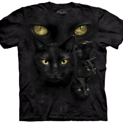black cat moon eyes shirt