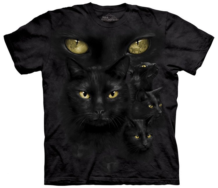 black cat moon eyes shirt