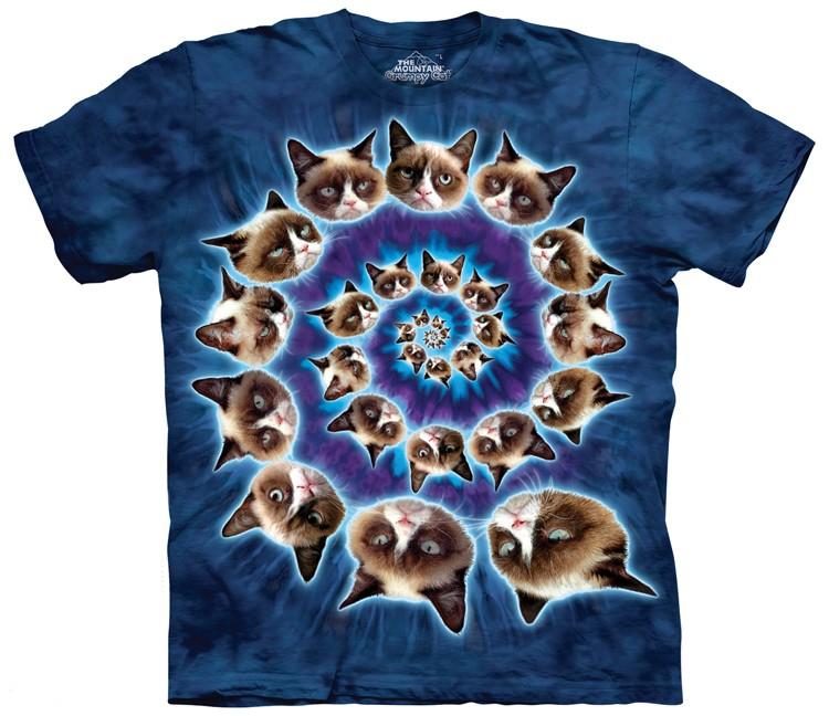 grumpy cat spiral shirt