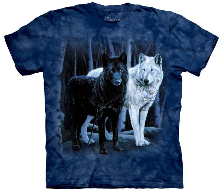 black and white wolves shirt