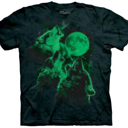 Three Wolf Moon Glow in the Dark Shirt