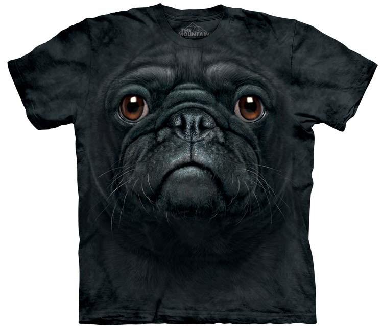 black pug shirt