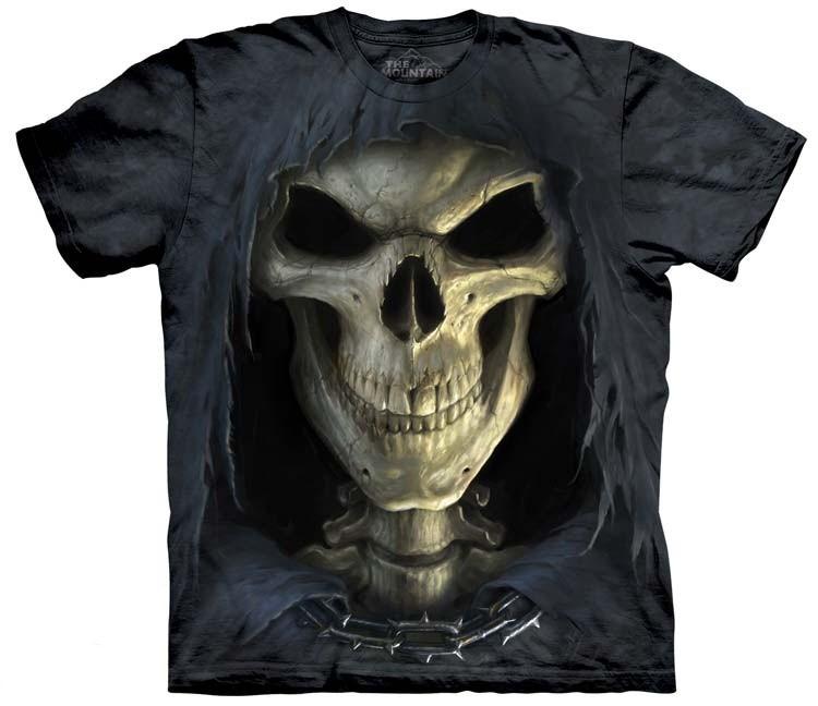 skeleton death face shirt