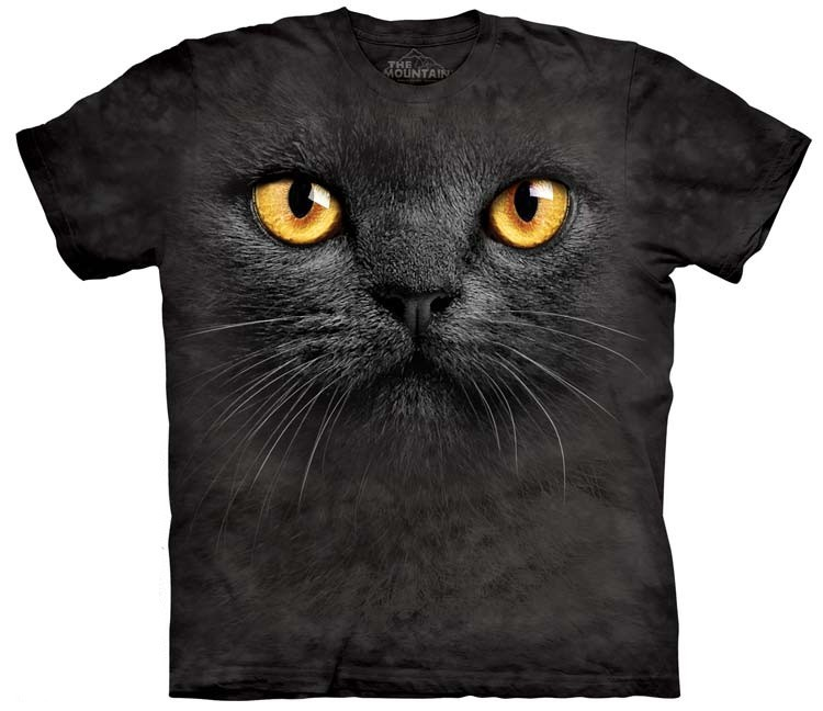 Big Face Black Cat Shirt