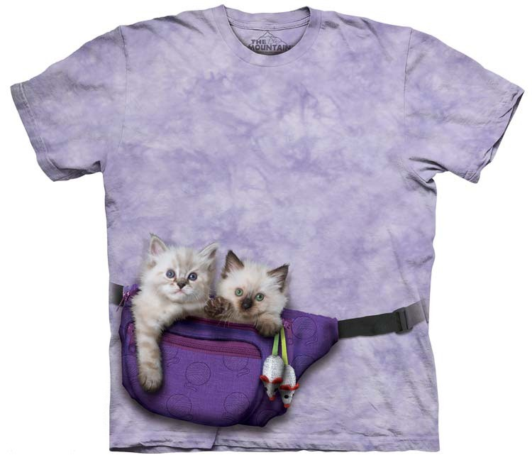 fanny pack kitten shirt