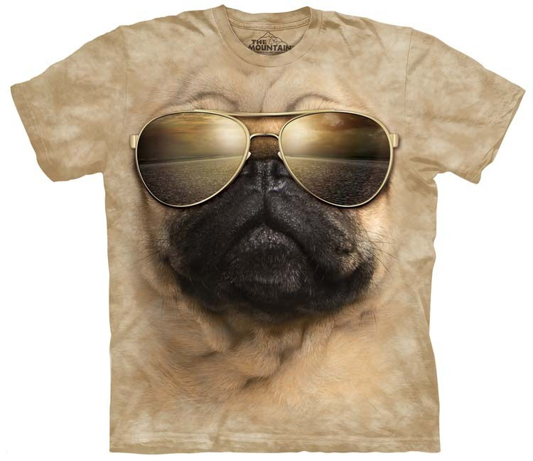 aviator pug shirt