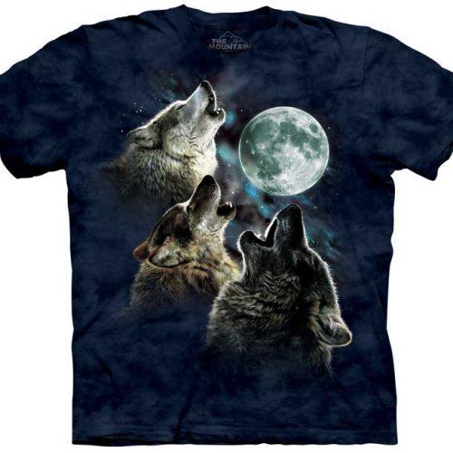 Three Wolf Moon Blue Shirt
