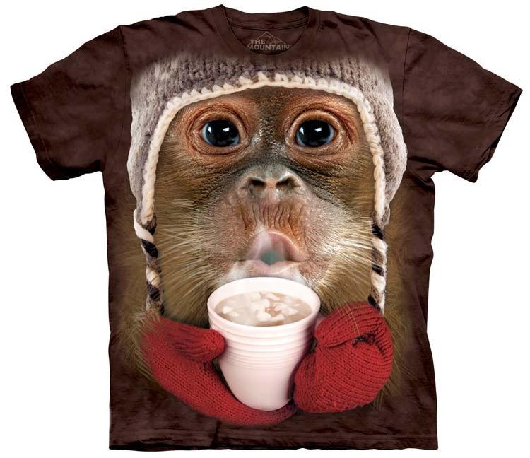 hot cocoa orangutan shirt