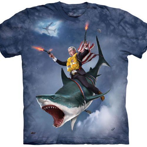 George Bush Dubya Shark Shirt